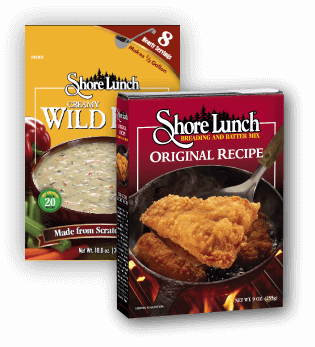Shore Lunch Creamy Wild Rice Soup Mix & Orginal Recipe Fish Breading & Batter Mix