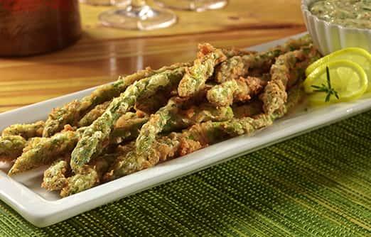 Fried Asparagus with Garlic Aioli