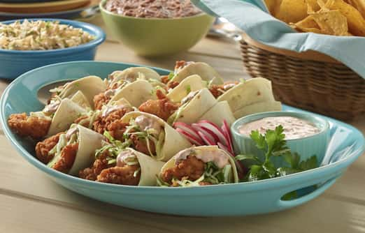 Chipotle Chicken Party Tacos