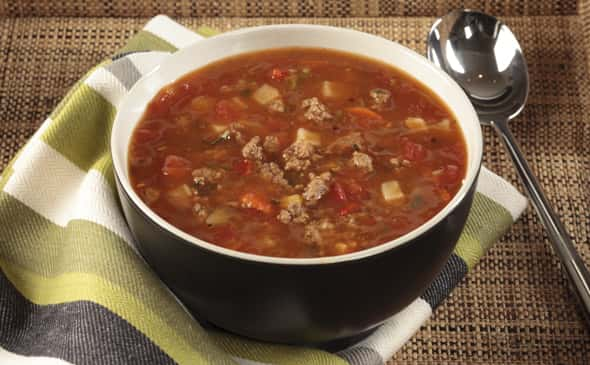Fire Roasted Vegetable Beef Soup