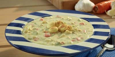 Creamy Vegetable Clam Chowder recipe