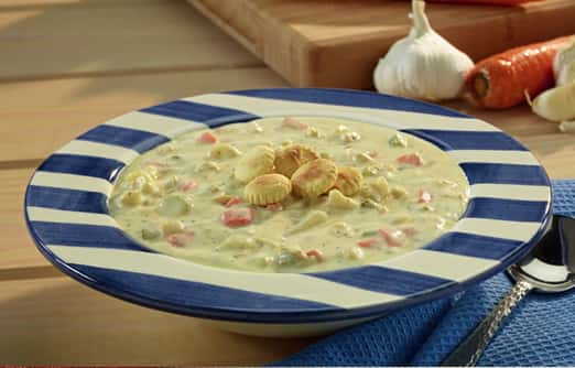Creamy Vegetable Clam Chowder