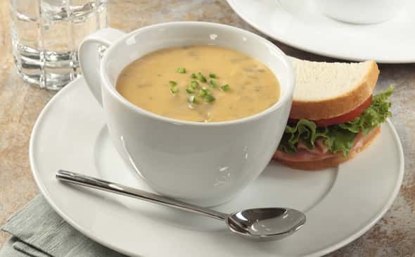 Spicy Fire Roasted Cheddar Broccoli Soup