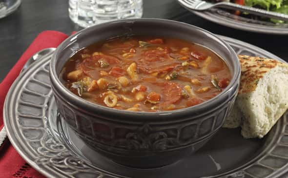 Spicy Pepperoni Minestrone Soup